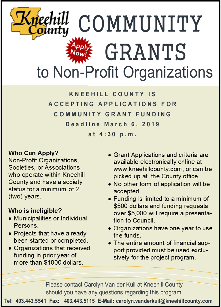 community grants advertisment ad 2019